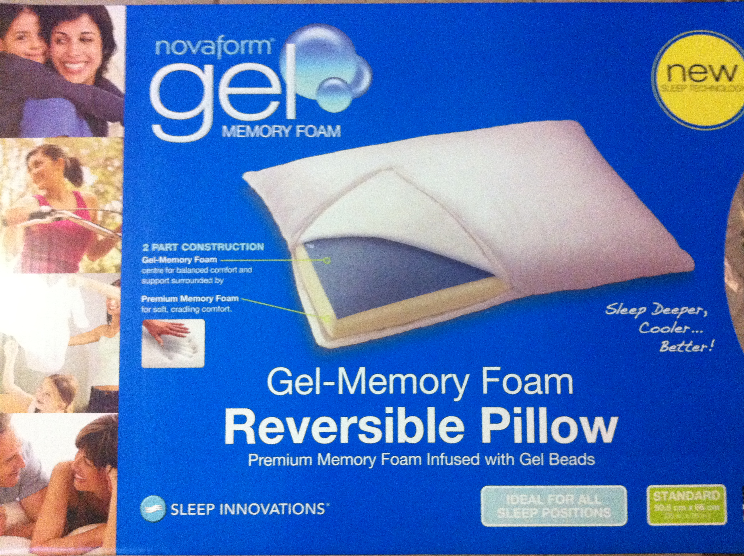 A GreatInexpensive PillowNovaform Gel Memory Foam Pillow